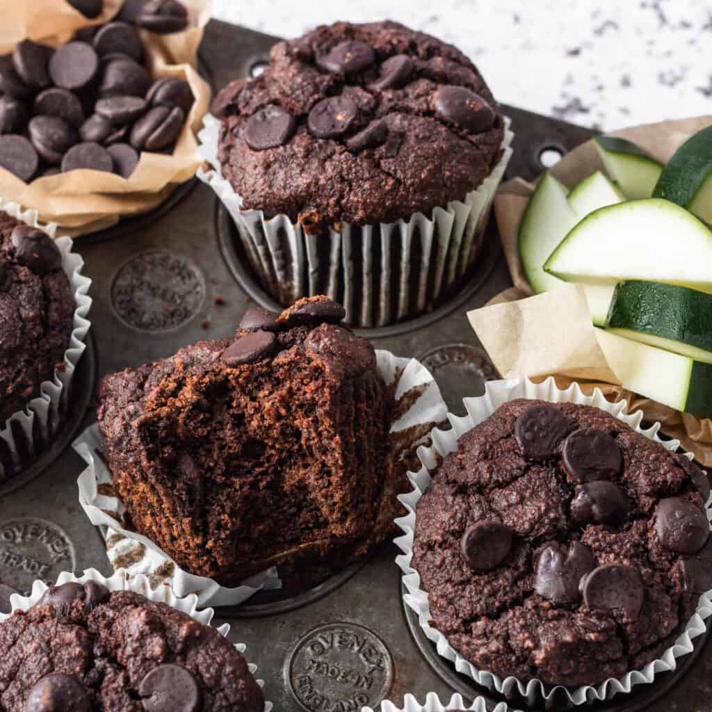 Double Chocolate Courgette Muffins