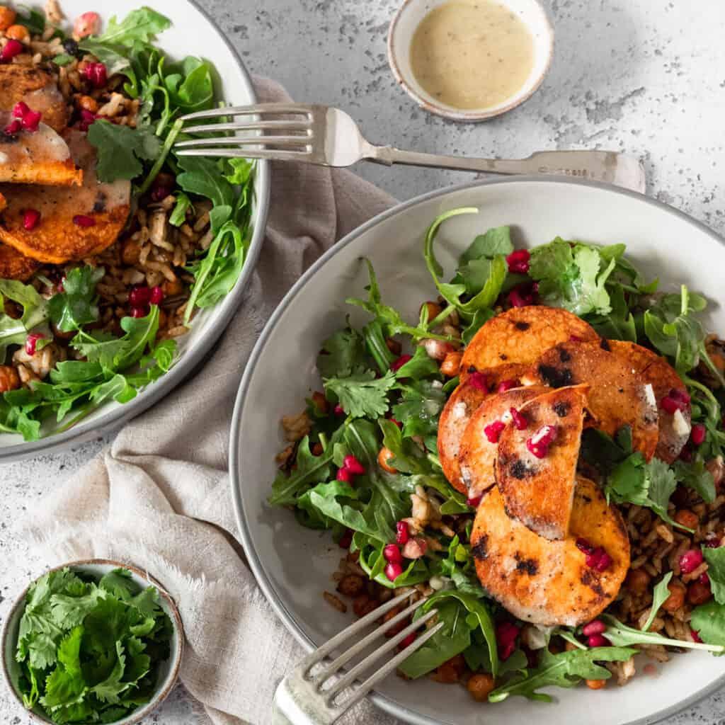 Marinated tempeh salad