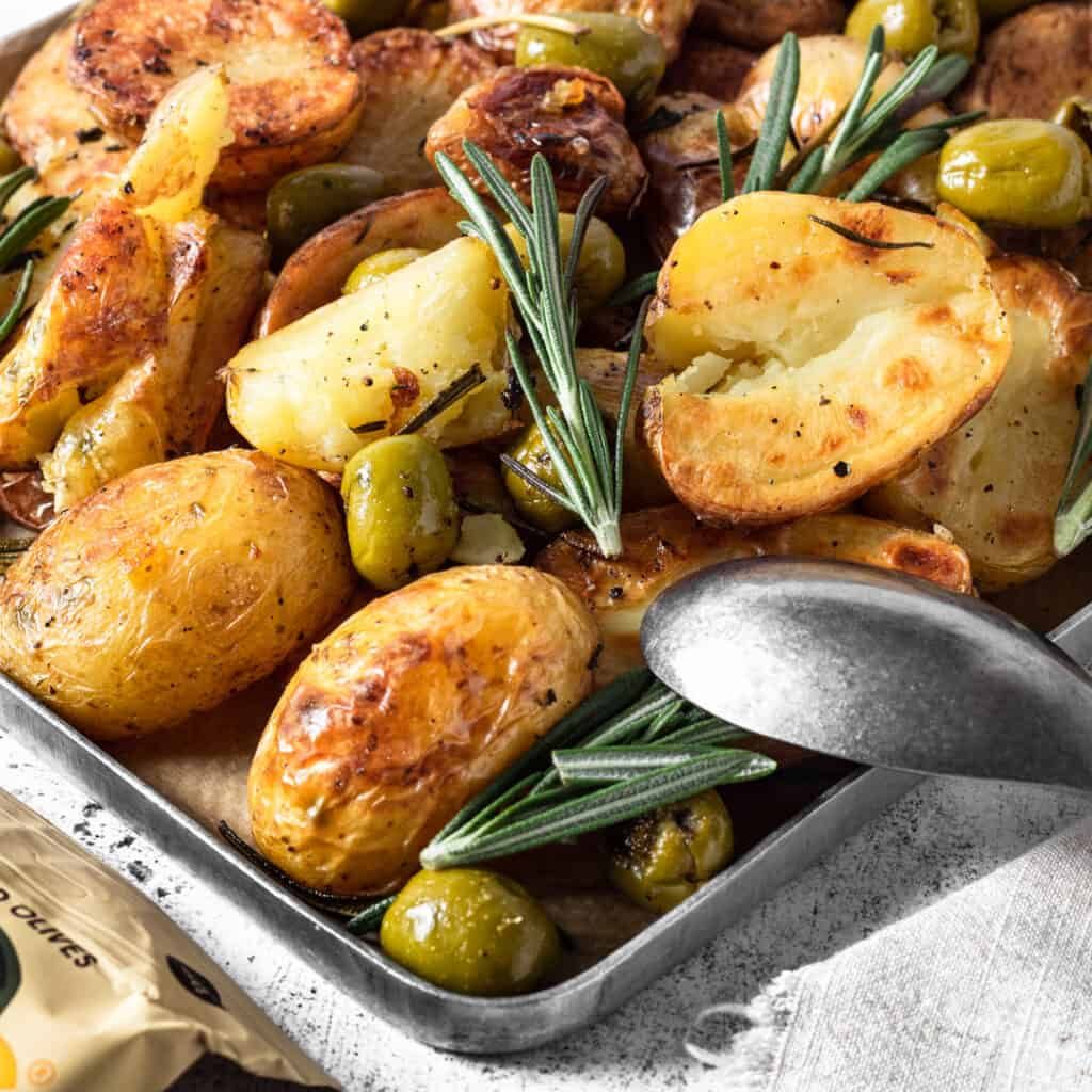 Rosemary and olive roasted potatoes