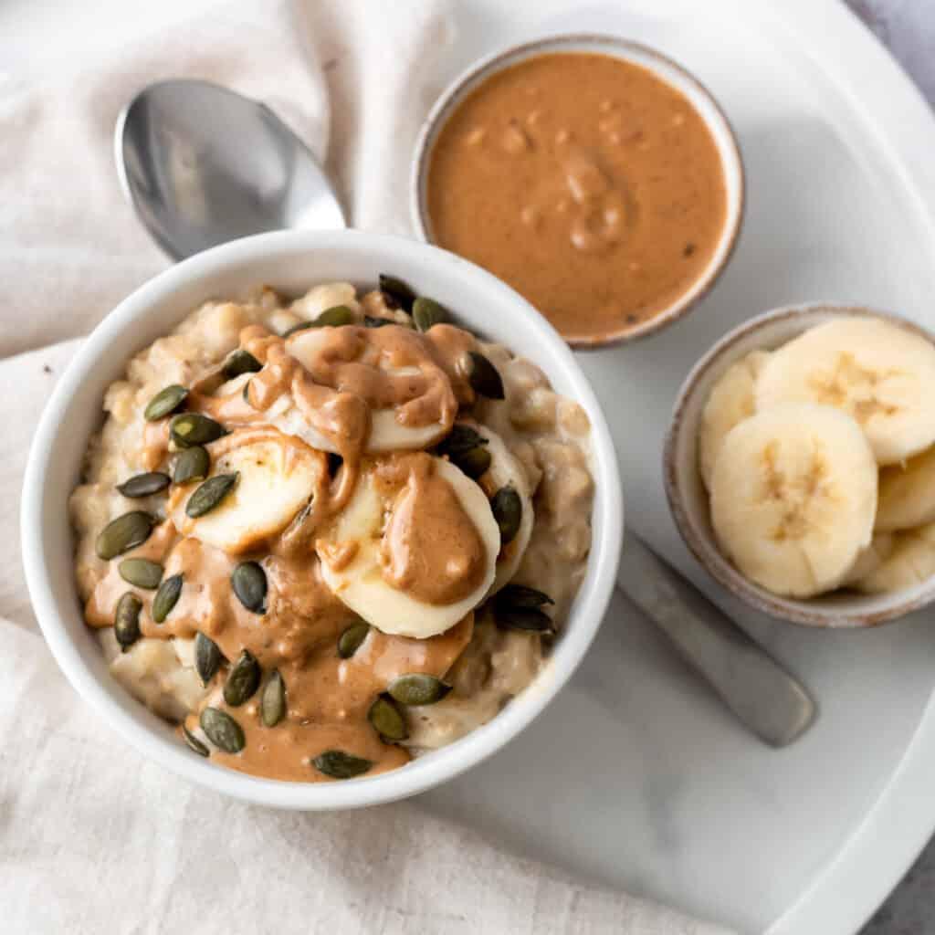 Peanut butter and banana porridge