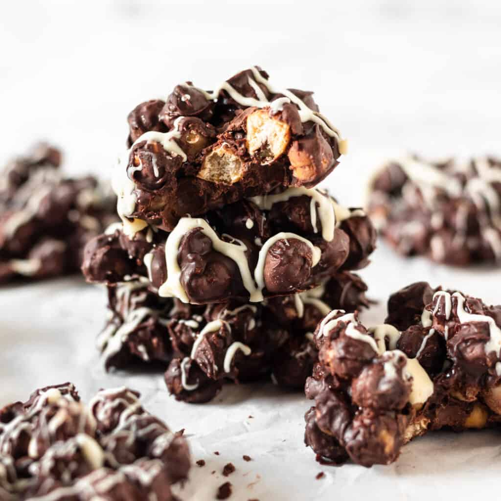 Chocolate Covered Chickpea Clusters