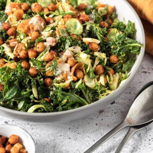 Winter Kale and Chickpea Salad