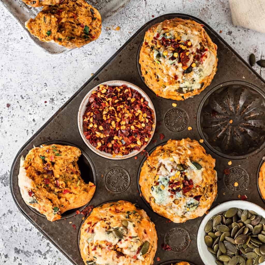 Easy savoury vegan muffins