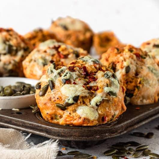 Easy Vegan Savoury Muffins