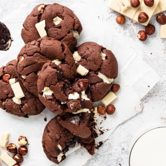 Chocolate Hazelnut Protein Cookies