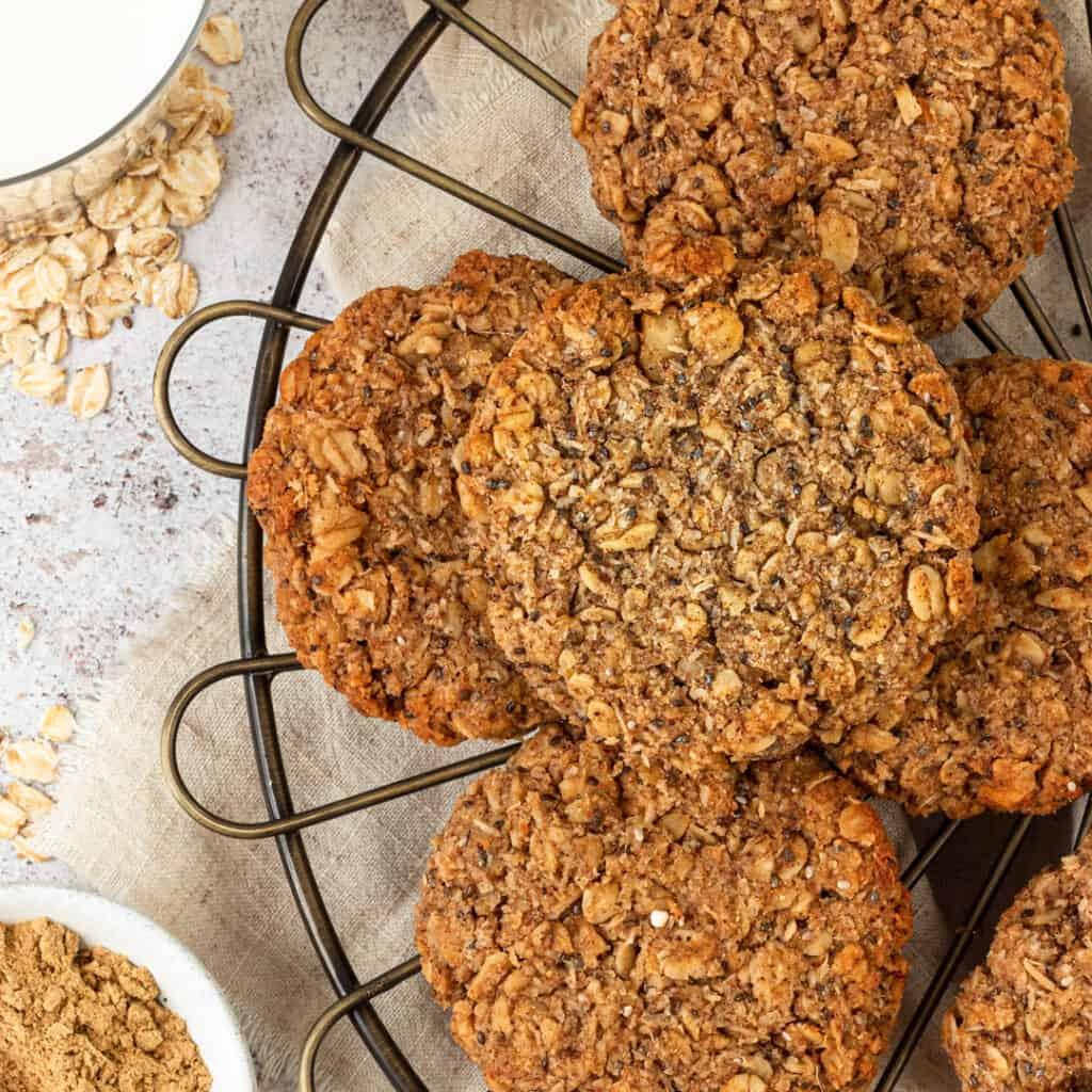 Healthy vegan oat cookies